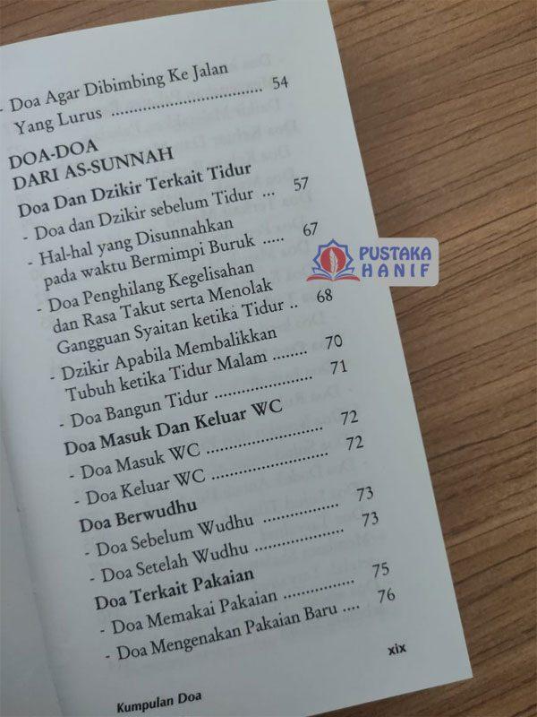 daftar isi buku kumpulan doa alquran dan sunnah
